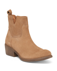 Cut Out Suede Ankle Booties
