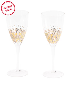 Set Of 2 Ambrosia Wine Glasses