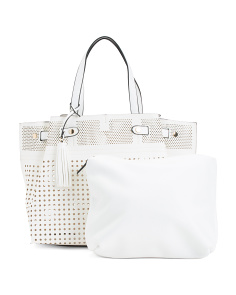 Perforated Tote With Tassel