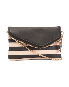 Striped Convertible Clutch