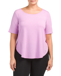 Plus Active Round Hem Top