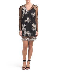 Iola Embroidered Shift Dress