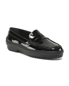 Made In Italy Patent Leather Driving Moccasin