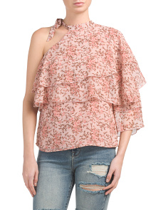 Made In USA Colton Tiered Ruffle Top