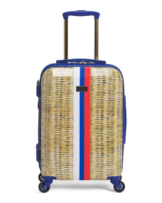 21in Basketweave Hardside Carry-on Spinner