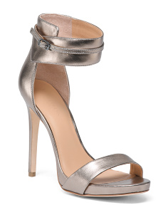Metallic Leather Dress Heels