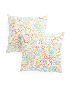 20x20 Set Of 2 Leverone Garden Pillow