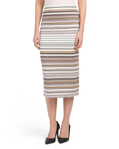 Multi Panel Stripe Ponte Skirt