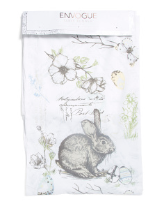 16x80 Bunny Linen Table Runner