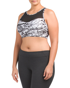 Plus Active Mesh Front Bra