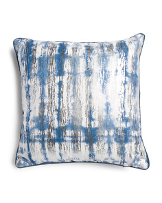 20x20 Faux Linen Reversible Pillow