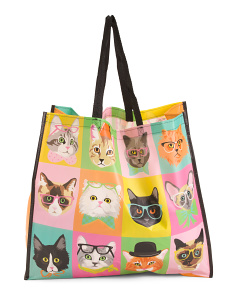 Novelty Cat Glasses Reusable Bag
