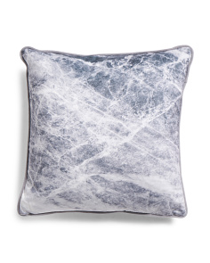 20x20 Marble Printed Velvet Pillow