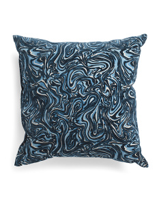 Made In USA 22x22 Velvet Swirl Pillow