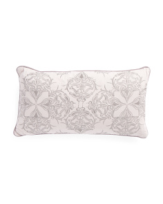 11x21 Embroidered Damask Pillow