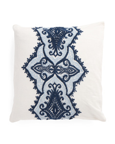 Made In India 18x18 Embroidered Pillow