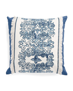 Made In India 18x18 Shibori Print Pillow