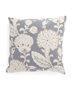 Made In India 20x20 Applique Pillow