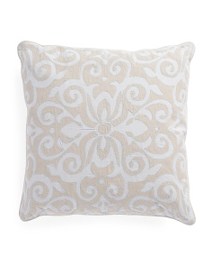 Made In India 20x20 Scroll Pillow