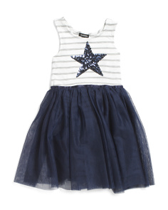 Little Girls Sequin Star Tutu Dress