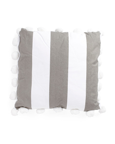 26x26 Oversized Pom Pom Pillow