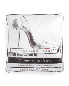 18x18 Velvet Fashion Shoes Pillow