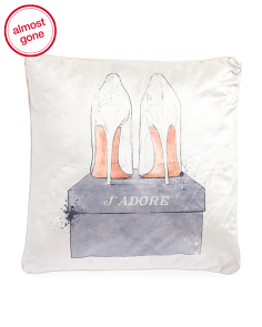 18x18 Velvet Shoes Pillow