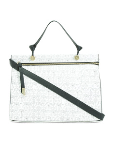 Large Logo Signature Satchel