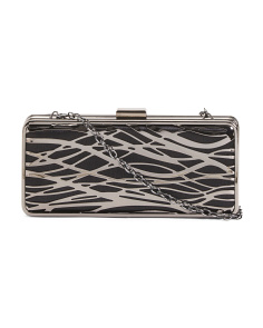 Cage Metal Motif Minaudiere Clutch