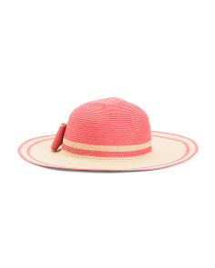 Straw Floppy Hat With Bow