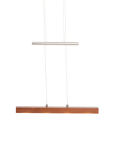 Walnut Wood LED 4 Light Pendant
