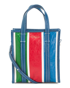Made In Italy Bazar Leather Shopper
