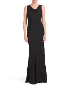 Made In USA Deep V-back Gown