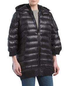 Quilted Down Cape Jacket