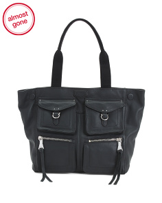 Extra Large Leather Sergeant Tote