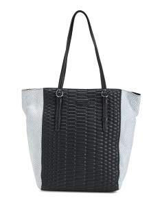 Python Medina Leather Tote