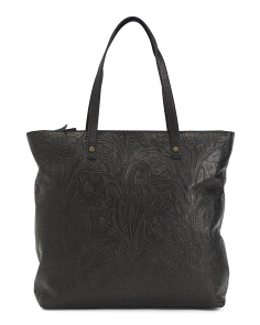 Nashville Embossed Leather Tote