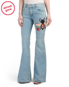 Made In Italy Embroidered Denim Pants