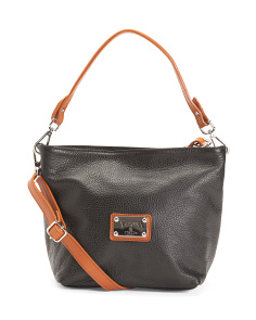 Made In Italy Leather Hobo Crossbody