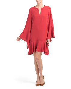 Flare Flutter Sleeve Dress