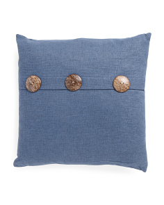 20x20 Wood Button Pillow