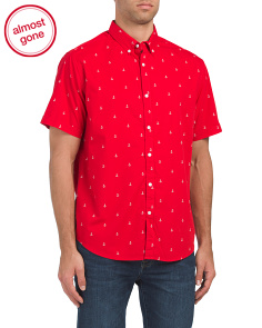 Short Sleeve Anchor Print Shirt