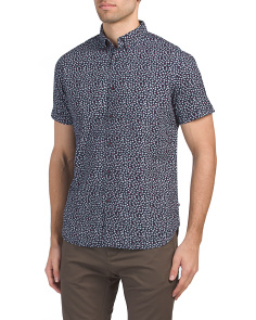 Short Sleeve Polka Dot Pirnt Shirt
