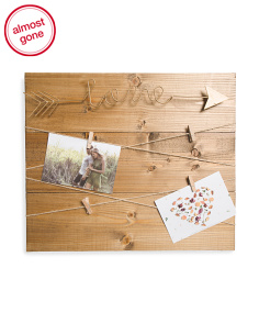 15x17 Love Arrow Photo Clip Display