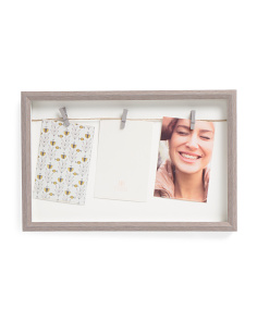 Barnwood Shadow Box Photo Display