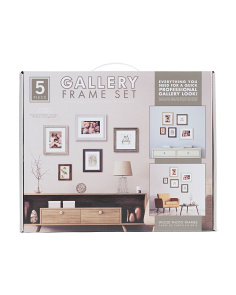 5pc Assorted Gallery Wall Framing Set