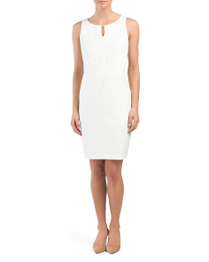 Sheath Dress With Waist Detail