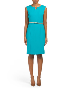 Sleeveless Keyhole Sheath Dress