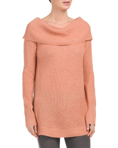 Cowl Neck Long Lightweight Sweater