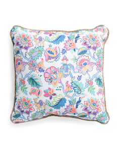20x20 Indoor Outdoor Jungle Jacobean Pillow
